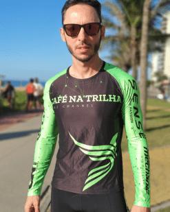 A camisa Camisa Café na Trilha é um produto pensado e desenvolvido para todos os tipos de ciclistas confortável, extremamente leve e suave.