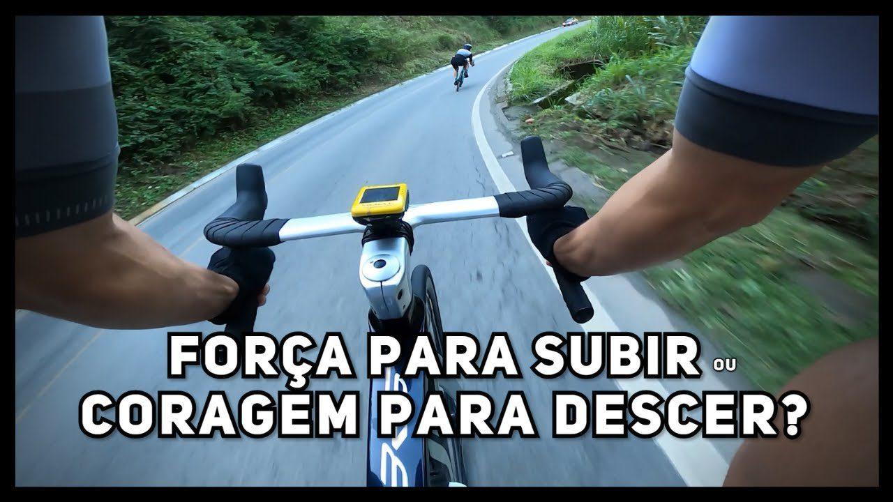treino de bike de estrada subir ou descer as montanhas