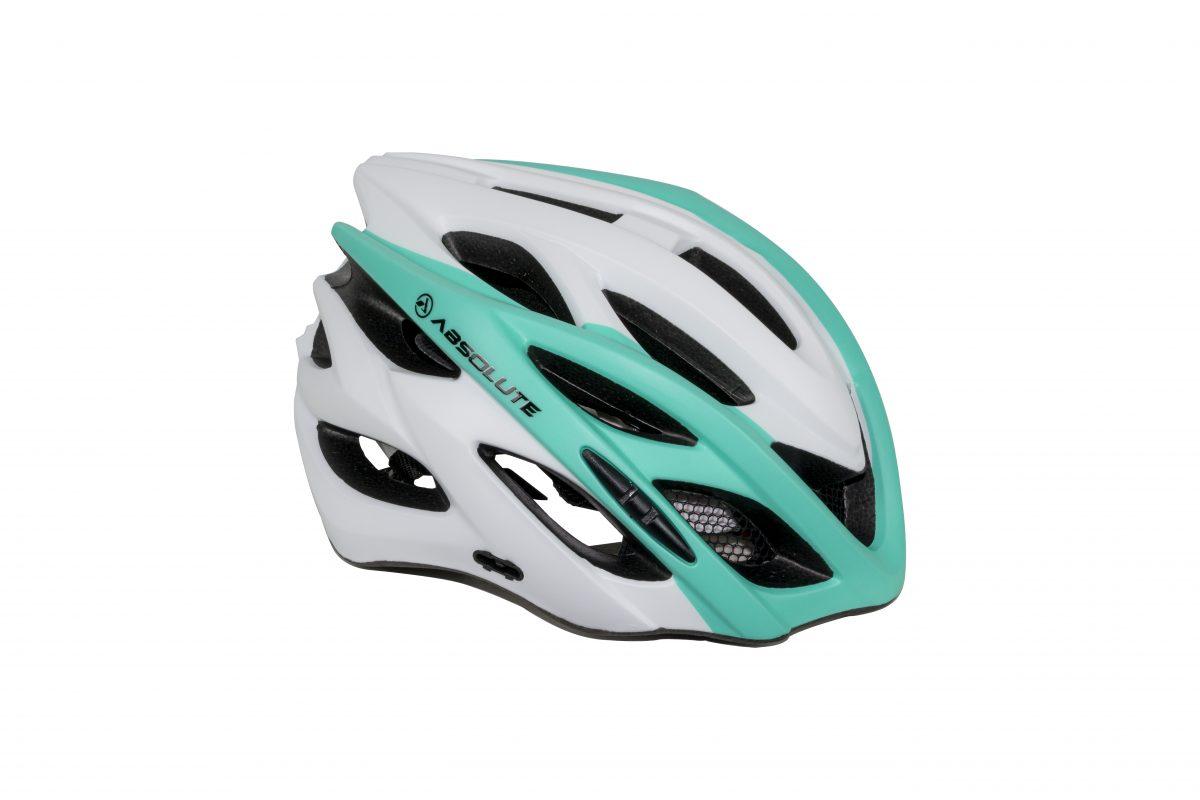 capacete absolute luna branco e verde 2