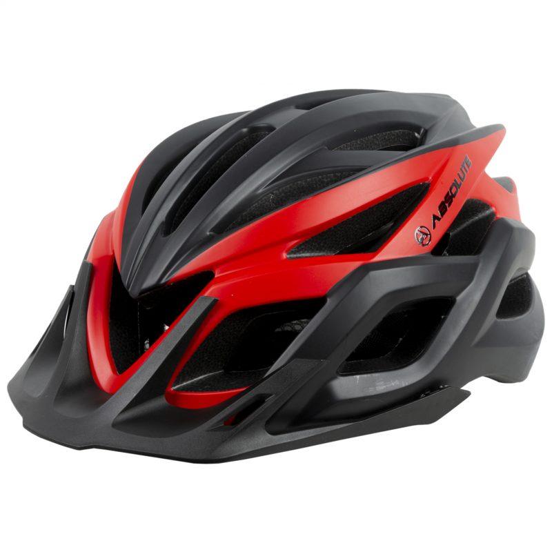 capacete absolute wild flash preto e vermelho com viseira