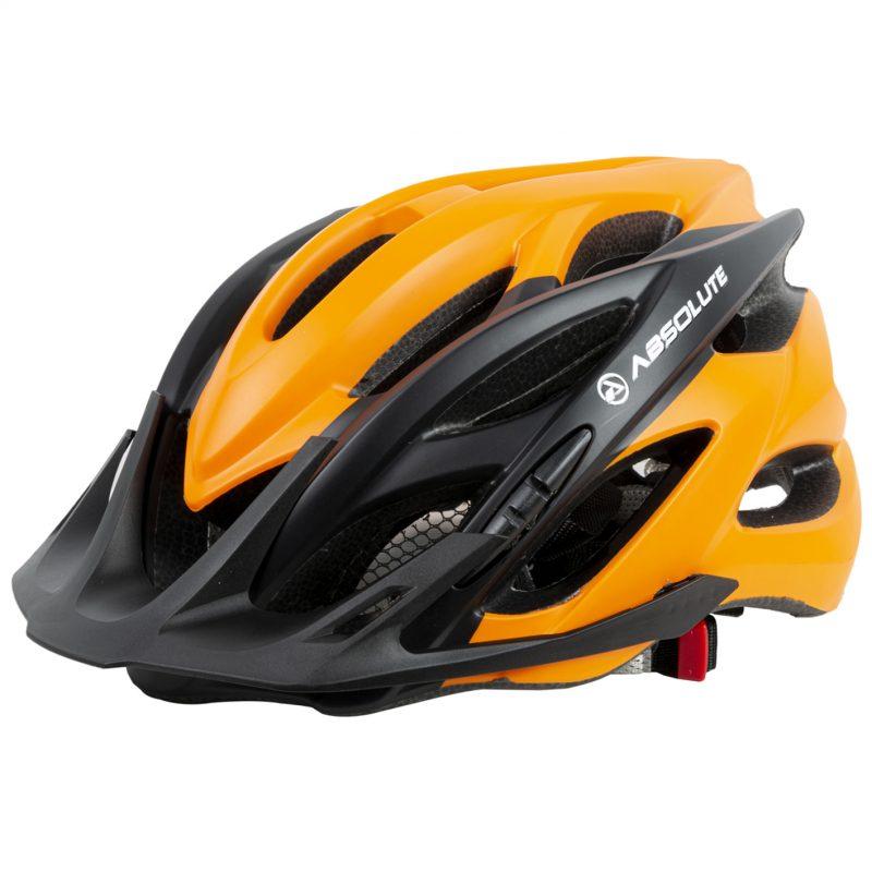 capacete absolute wild preto e laranja com viseira